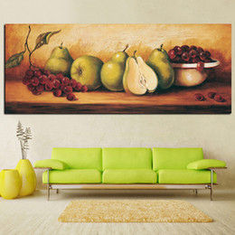Art Canvas Prints Australia - 1 Piece Digital Printed Still Life Painting Fruie Pear Grape Oil Painting on Canvas Painting Picture Kitchen Wall Art No Framed