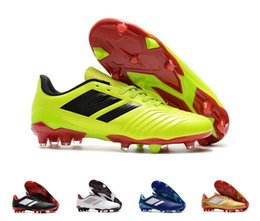 6f876967efa High Top Predator Tango 18.4 FG chaussures de football Boots Lace up Mens  Outdoor Predator Socks Soccer Shoes Leather Soccer Cleats