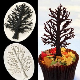 silicone mold cake leaf NZ - Tree Leaves Silicone Mold Home DIY 3D Fondant Mold Cake Decorating Tools Chocolate Baking Tools Fondant Cake Bakeware Soap Molds