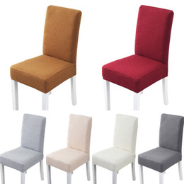 Party Chairs For Sale Wholesale Australia - Universal Polyester Cotton Elastic Chair Covers for Wed Events Party Christmas Decoration Dining Room Restaurant High Back Chair Cover Sale