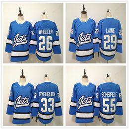2019 New Winnipeg Jets Hockey Jersey Light Blue 29 Patrik Laine White 26  Blake Wheeler 33 Dustin Byfuglien Navy Blue 55 Mark Scheifele 5bea085c7
