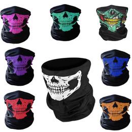 skull half face paintball mask 2018 - Skull Mask Bandana Bike Bicycle Cycling Helmet Neck Face Mask Half Face Game Masks Paintball Ski Sport Headband cheap sk