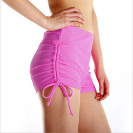 ladies drawstring yoga pants 2019 - LTD New Yoga Shorts Women Quick Dry Drawstring Beach Shorts Lady Dry Fit Sports Short Fitness Running Gym Corto Vestidos