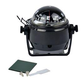 Großhandel Neue Heiße Auto 12 V LED Licht Sea Marine Elektronische Digital Auto Kompass Lkw Boot Caravan Kompass Universal