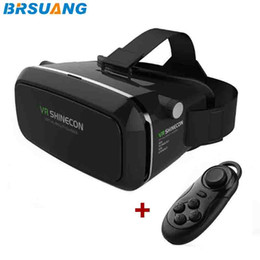 games etc 2019 - 10pcs lot VR SHINECON 3.5-6.0 inch Virtual Reality 3D Movies Games Glasses+Bluetooth Remote Control for Samsung Apple HU