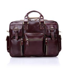 $enCountryForm.capitalKeyWord Canada - New men's Best retro handbag travel bag business briefcase luggage leather high-capacity computer bag shoulder diagonal multi-purpose bag