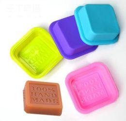 $enCountryForm.capitalKeyWord UK - Delicate Cute Craft Art Square Silicone Oven Handmade Soap Molds DIY Soap Mold Baking Moulds Random Color SN1083