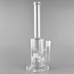 type bong percolators NZ - JM flow Straight type glass bong eight percolator glass water pipe for smoking use 11 inches 14 mm female joint