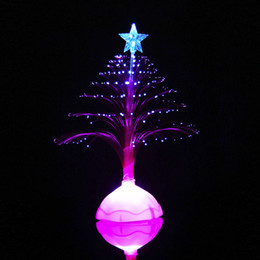 Table Charm Wholesale Australia - ISHOWTIENDA Merry Christmas LED Color Changing Mini Xmas Tree Home Table Party Decor Charm Mini Christmas Tree