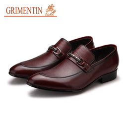 $enCountryForm.capitalKeyWord UK - GRIMENTIN Hot Sale Slip-On Mens loafers Italian Fashion Mens Dress Shoes 100% Genuine Leather Formal Business Office Wedding Mens Shoes New