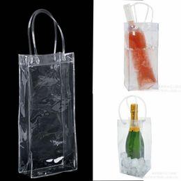 Bag Gift Wine Beer Champagne Bucket Drink Ice Bag Bottle Cooler Chiller Foldable Carrier Favor Gift Festival Bags on Sale