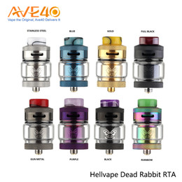 Discount rta atomizers Hellvape Dead Rabbit 24mm RDA 25mm RTA Tank Atomizer With Single Coil Dual Coil Rebuidable Dripper 100% Original
