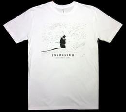 Portão Winters Insomnium S-3XL Tshirt Oficial Death Metal Banda T-Shirt de Manga Curta Homens Camiseta Tops Animal de Verão venda por atacado