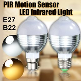 $enCountryForm.capitalKeyWord Australia - LED Ball Bulb 7W E27 B22 AC85~265V Infrared PIR Motion Sensor Detection Light Lamp Garden Lighting Warm White White