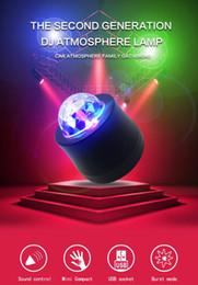 $enCountryForm.capitalKeyWord Australia - Car LED Music Lights Voice Control Mini MP3 Club Disco Party Crystal Magic Ball Stage Effect Rotating Bulb With USB Interface