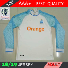 a78670736 2018 2019 marseille THAUVIN L.GUSTAVO PAYET Long sleeve Soccer Jersey 18 19  home Olympique De Marseille football shirts S-2XL