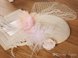 Hair Hats Free Shipping Australia - Newest Bridal Hats High Quality Small Flower Hats For Women Free Shipping Wedding Hair Accessories Feather Party Hats Wholesale