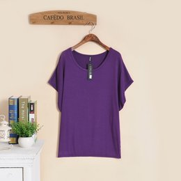 $enCountryForm.capitalKeyWord Canada - new 2018 plus size t-shirts women o-neck short batwing sleeve modal cotton loose tops tees girl casual tunic candy color
