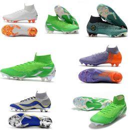 boys cristiano ronaldo shoes 2018 - Kids brand Mercurial Superfly SuperflyX KJ VI 360 Elite Ronaldo CR7 FG Mens Women Boys Soccer Shoes Cristiano Football B