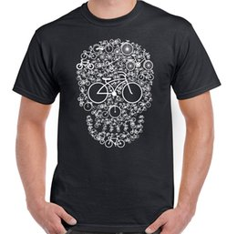 Cycling Cyclist Australia - Bicycle Skull Face Mens Funny T-Shirt Cyclist Cycle DH MTB Racer