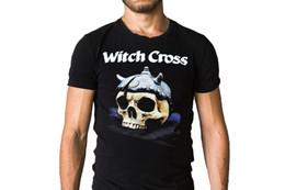 Men Fashion Logo T Shirts NZ - Witch Cross Axe To Grind 2013 Cd Logo Art Cover T-Shirt T Shirt Men 2018 Short Sleeve Fashion Custom Plus Size Couple Camiseta