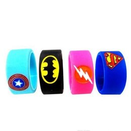 batman vape mods NZ - Superman Batman Captain America Flash Silicone Vape Band Engraved Logo Silicon Beauty Decorative Ring for Glass Tanks Rda Atomizer Vape Mod