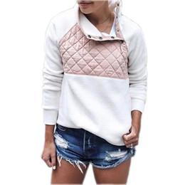Flannel Sweatshirts Canada - Hoodies & Sweatshirts 2017 Flannel Harajuku Hoodies Women Winter Warm Hoodie Neck Buttons Casual Sweatshirt Women Sudadera Mujer