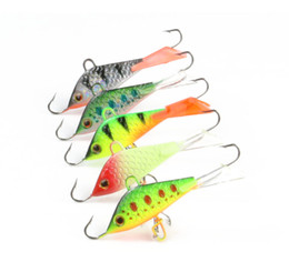lure lead jigs fishing NZ - 5 Pieces Vertical Jigging Lead Fish Bait 5cm 7.4g Winter Ice Hard Fishing Lure Fishing Hook Ice Balance Fish Jigs