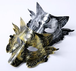 Halloween Party Decorations For Adults Australia - Party Gold Wolf Mask Halloween Masquerade Party Masks Costume Wolves Ball Bar Decoration Adult for Party Costume