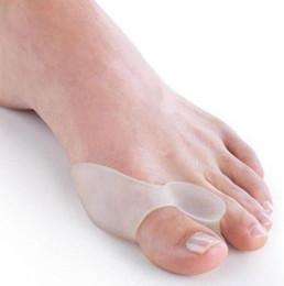 Toe Hallux Valgus Corrector Silicone Gel Spreader Feet Care Toe separador Juanete Guardia Dedo del pie Enderezadora 500 pares en venta