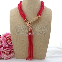 necklaces pendants Australia - N091204 7Strands 18'' Red Stone Dragon CZ Pendant Necklace