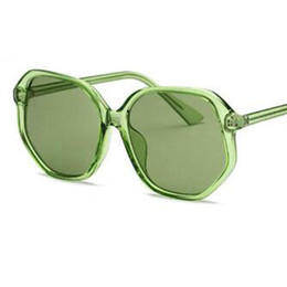 polyurethane sunglasses UK - female Transparent Green sunglasses 2018 fashion brand designer unisex sun glasses luxury clear glasses Pink shades for women UV400