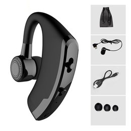 Discount connect phones bluetooth headset - V9 Handsfree Business Wireless Bluetooth Headset With Mic Voice Control Headphone For Drive Connect With 2 Phone
