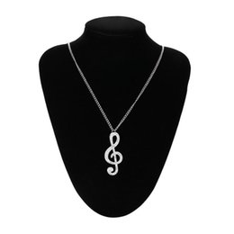 China Elegant Women Necklace Crystal Music Note Pendant Chain Sweater Necklace Jewelry Ornaments Fantastic Choker Torque Necklaces cheap jewelry torque suppliers