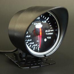 Venta al por mayor de 60mm 2.5 pulgadas DEFI BF Style Racing Gauge Turbo Boost Gauge con Sensor de luz blanca roja