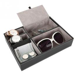 Sunglasses Storage Australia   5 Grid Slots Office Destktop Jewelry Organizer  Sunglasses Watches Boxes Display Storage