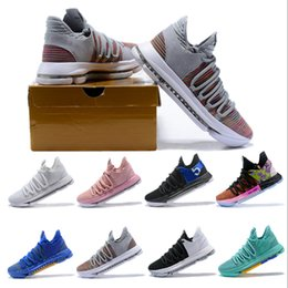 low top kevin durant shoes 2019 - 2018 New Top Kevin Durant 10 Basketball Shoes Men Kd 10 Gold Championship MVP Finals Sports Shoes training Sneakers Runn