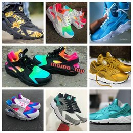 Blue printers online shopping - 2018 Huarache Breathe Running Shoes For Men Women Mens Red White printer Air Huaraches Multicolor zapatos Sneakers Athletic Trainers