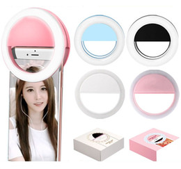 Lamps for charging phones online shopping - For iPhone Samsung Huawei Sony LG HTC Universal USB Charge Cell Phone LED Selfie Light Ring Flash Camera Lamp Light