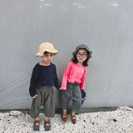 $enCountryForm.capitalKeyWord Canada - Children's Cotton and Linen Pants Autumn Girl Pants Fashion Striped Wide Leg Kids Girls Clothing Boys and Girl Cross