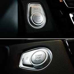 $enCountryForm.capitalKeyWord NZ - Chrome ABS Car Engine Start Stop Buttons Sequins Cover Trim 3pcs For BMW 2 3 4 series 3GT 2013-18 X1 2016-18
