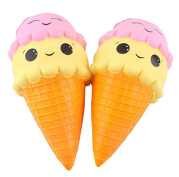 China Squishy Large Ice Cream 22cm 18cm 16cm 12cm 10cm Slow Rising bread Relieve Stress Sweet Food Phone Strap Phone Pendant Keychain Toy Gift suppliers