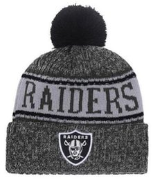 286553a67 Winter Raiders Beanie Sideline Cold Weather Graphite Sport Knit Hat Knitted  Wool Adult Bonnet Warm Official Reverse Cap Black Beanie