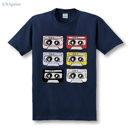 flash tapes Australia - USAprint Summer Men Vintage Tape T Shirts Cotton Classic Clothing Male Casual Short Sleeve Homme Camisetas Harajuku