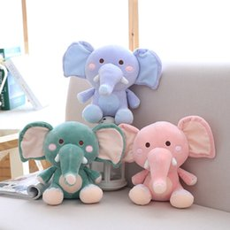 Discount elephants baby - Appease Elephant Plush Toy Pillow Baby Comfort Companion Doll Soft And Comfortable Down Cotton Padded Doll Birthday Holi