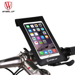 up wheels 2019 - WHEEL UP 6.2 Inch Waterproof Touch Screen bike Bag Front Frame Top Cell Phone TPU Cycling Bag MTB Mountain bicycle acces