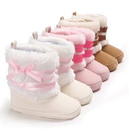 2aae9f40e78b 2018 New Brand Winter Newborn Baby Boy Girls Snow Boots Shoes Cute Solid  Fashion Warm Prewalker Booties 0-18M