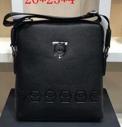 Man sMall business bag online shopping - 2018 Brand men s genuine leather shoulder Messenger Bag Flap ipad men style bag Solid male Business