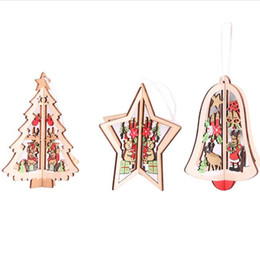 $enCountryForm.capitalKeyWord UK - 3D wooden crafts Christmas tree pendants stars bell Christmas tree shape Christmas ornaments hanging home party festival supplies