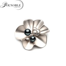 brooch flower pearl 2019 - Real natural freshwater pearl brooch for women,fashion flower brooch pearl party gift cheap brooch flower pearl